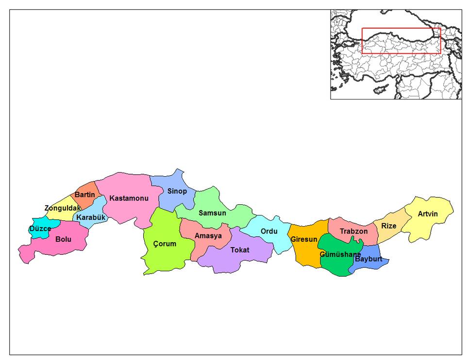 Turkey black sea region