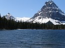 Two Medicine Lake with Sinopah Mountain, in Glacier National Park.