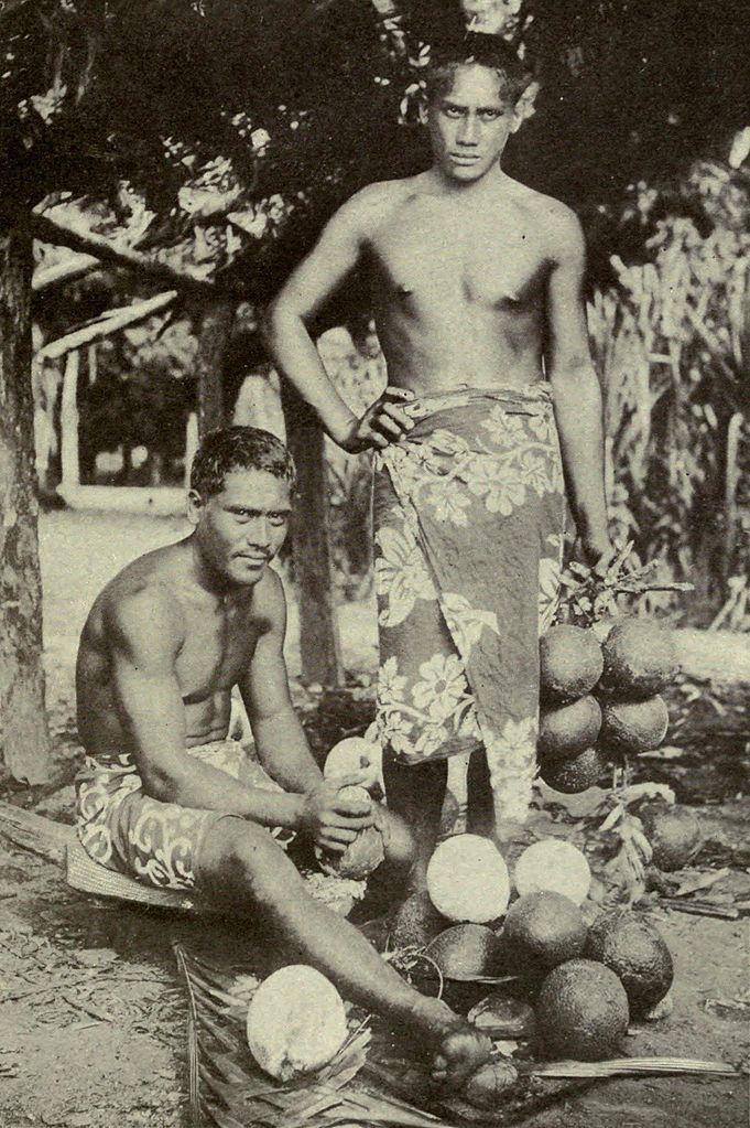 Filetwo Tahitian Men Preparing Breadfruits, C 1902Jpg -4595