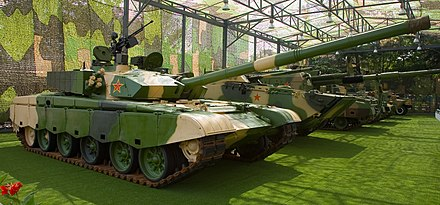 PLA's Type 99a tank with disruptive camouflage painting Type 99 MBT front right.jpg