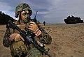 U.S.M.C 1st Lt. John J. Dick, Hwajinri beach, Pohang, South Korea, Nov 4, 2009.jpg