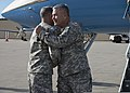 U.S. Army Lt. Gen. Michael Ferriter, the commander of the Army Installation Management Command and the assistant chief of staff for Installation Management, greets Gen. John F. Campbell, the vice chief of staff 140102-A-JW984-005.jpg