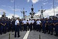 U.S. Coast Guard Vice Adm. Charles W. Ray, center left, the commander of U.S. Coast Guard Pacific, speaks with Coast Guardsmen aboard the national security cutter USCGC Waesche (WMSL 751) before the start of Rim 140627-G-HN254-275.jpg