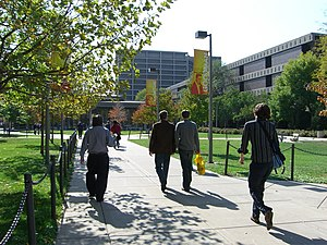 University of Illinois at Chicago - UIC's East Campus in October