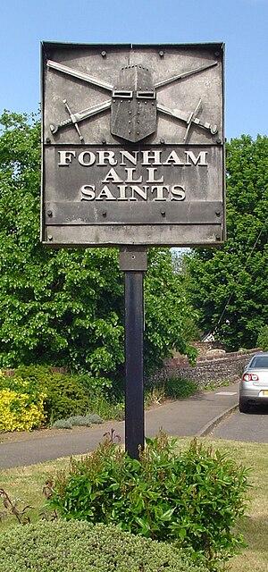 Fornham All Saints - Signpost in Fornham All Saints