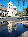 USA-Santa Barbara-Mission-Chapel Reflection in Fountain-2.jpg
