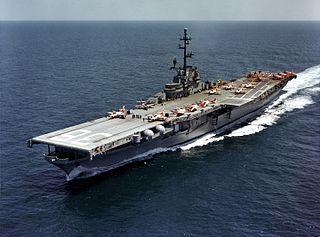 USS <i>Antietam</i> (CV-36) Essex-class aircraft carrier of the US Navy