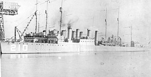 USS Broome (DD-210) in port, circa 1919-1920 (NH 98155)