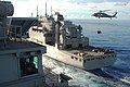 USS George Washington is replenished at sea. (9500634865).jpg