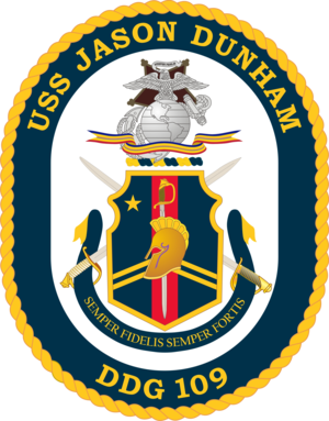 English: Emblem of the USS Jason Dunham DDG-109