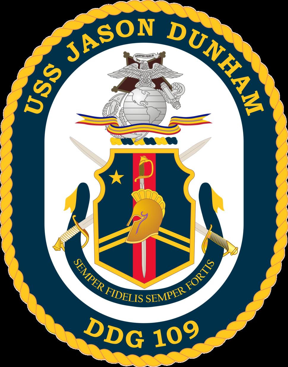 USS Jason Dunham COA