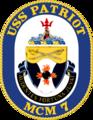USS Patriot MCM-7 Crest.png