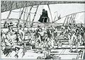 USS Peacock chasing the straits of Sunday (colon) last engagement of the War of 1812.jpg