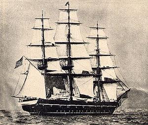 USS Saratoga (1842) - USS Saratoga as a training ship in the 1880s.