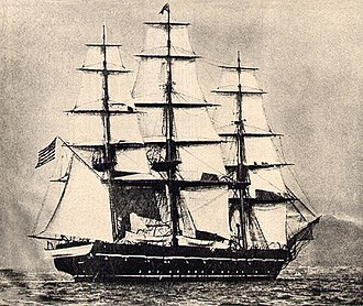 USS Saratoga (1842) - USS Saratoga as a training ship in the 1880s.