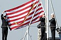 US Navy 011223-N-6811L-003 Navy Jack flown aboard USS Kitty Hawk.jpg
