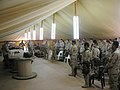 US Navy 030316-N-0728B-001 The camp mess tent doubles as a chapel as members of Fleet Hospital Three pause from their daily schedules in support of Operation Enduring Freedom to gather for Sunday services.jpg