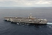 اهم اليات البحرية 180px-US_Navy_031130-N-6278K-001_USS_George_Washington_%28CVN_73%29_sails_off_the_coast_of_Florida