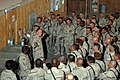 US Navy 041125-N-5386H-258 Reserve Seabees assigned to Naval Mobile Construction Battalion Two Three (NMCB-23), listen during an admiral's call given by Commander, Naval Reserve Force, Vice Adm. John G. Cotton.jpg