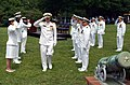 US Navy 060623-N-2383B-659 Rear Adm. Louis V. Iasiello concludes his time as the Chief of Navy Chaplains by traditionally being piped ashore at the conclusion of a Change of Office Ceremony at the Washington Navy Yard.jpg