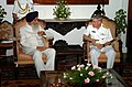 US Navy 070703-N-4420S-142 Commander, Carrier Strike Group Eleven, Rear Adm. Terry Blake, meets with the Governor of Chennai, India, Surjit Singh Barnala, at the governor's estate.jpg