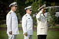 US Navy 070824-N-0696M-100 Chief of Naval Operations Adm. Mike Mullen, Vice Adm. John G. Morgan Jr., Deputy Chief of Naval Operations for Information, Plans and Strategy, and Adm. Vladimir Masorin, commander in chief of the Rus.jpg