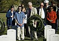 US Navy 071021-N-5319A-042 The family of Navy SEAL Lt. Michael Murphy visit the graves of service members killed by the same enemy forces as their son during a visit to Arlington National Cemetery.jpg