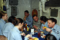 US Navy 081127-N-4584J-015 Army Gen. David H. Patraeus eats Thanksgiving dinner with Sailors aboard the Nimitz-class aircraft carrier USS Theodore Roosevelt (CVN 71).jpg