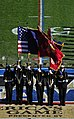 US Navy 091212-N-9693M-096 U.S. Naval Academy honor guard present the colors during the Midshipmen march on at the 110th Army-Navy college football game.jpg