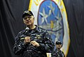 US Navy 100106-N-8273J-295 Chief of Naval Operations (CNO) Adm. Gary Roughead answers questions from Sailors aboard the aircraft carrier USS Nimitz (CVN 68).jpg