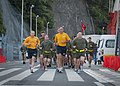 US Navy 101110-N-5758H-049 Vice Adm. Scoot Van Buskirk, center, commander of U.S. 7th Fleet, leads Marines assigned to Fleet Anti-Terrorism Securit.jpg
