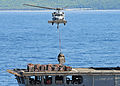 US Navy 110627-F-HS649-274 An MH-60S Sea Hawk helicopter transfers stores from USNS Rappahannock (T-AO 204).jpg