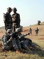 US Pacific Army and Indian Army soldiers during a joint session in India, 2009