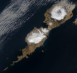 Umnak Island in Alaska, United States