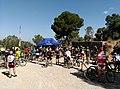 Un grupo de ciclistas durante una marcha en las inmediaciones del pico Relojero.jpg