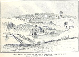 Battle of the Wilderness - Union troops cross the Rapidan