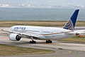 United Airlines, UA34, Boeing 787-8 Dreamliner, N29907, Departed to San Francisco, Kansai Airport (17171464086).jpg