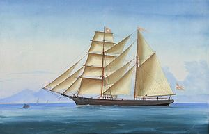 Unknown Italian artist - Brigantine 'Adolph' in the Bay of Naples.jpg