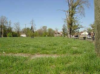 Urban prairie - Large gaps emerge in some Detroit neighborhoods as abandoned houses are demolished.