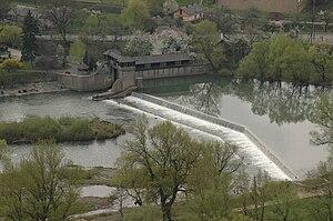 Uzh River - A small hydro power plant on the Uzh River near Nevitske.