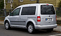 VW Caddy 1.2 TSI Roncalli (2K, Facelift) – Heckansicht, 31. Dezember 2012, Hilden.jpg