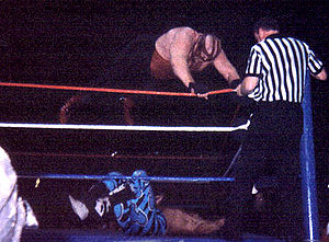 Big Van Vader - Vader performing a Vader Bomb on Shawn Michaels