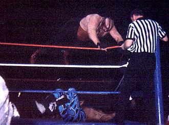 Big Van Vader - Vader performing a Vader Bomb on Shawn Michaels