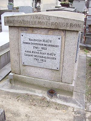 Valentin Haüy - Grave of Valentin Haüy and René Just Haüy