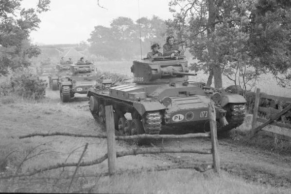 Valentine tanks of the 1st Polish Corps on exercise in Scotland