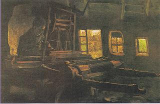 Weaver, Interior with Three Small Windows