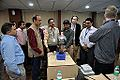 Van de Graaff Generator Experimentation - Indo-Finnish-Thai Exhibit Development Workshop - NCSM - Kolkata 2014-11-27 9762.JPG