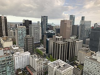 Downtown Vancouver Neighbourhood of Vancouver in British Columbia, Canada