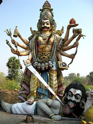 Virabhadra - A statue in Dharmapuri district depicting Veerabhadra