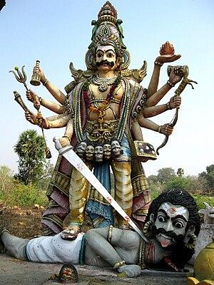 Virabhadra - A statue in Dharmapuri district depicting Veerabhadra